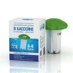 МАК 4  Комплексное средство в поплавке дозаторе,  для долговременной  дезинфекции воды в бассейне.
