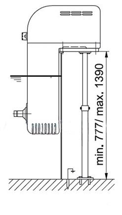 1326 Телескопическая подставка для навесного противотока