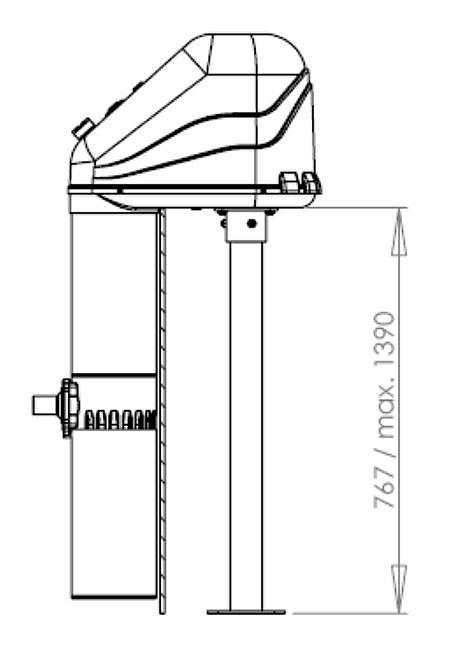 1328 Противоток навесной AquaJet 50 м3/ч