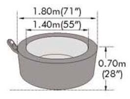 Бассейн СПА с джакузи MSPA Elegance B-140 Stove Grey 1,80х0,70