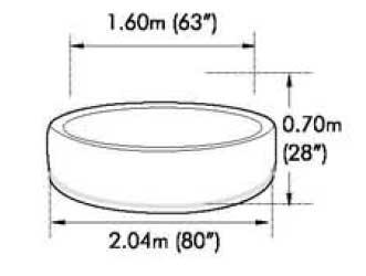 Бассейн СПА с джакузи MSPA Super Camaro B-150 2,04х 0,70