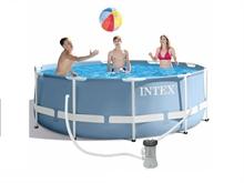 26706 Каркасный бассейн круглый intex 305х99см+фильтр насос 2006 л/ч, лестница