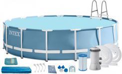 26720 Каркасный бассейн круглый INTEX Metal Frame 4,27х1,07+фильтр-насос картр. 3785 л/ч