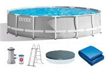26724 Каркасный бассейн круглый INTEX Prism Frame Pool 4,57х1,07+фильтр-насос картр. 3785 л/ч