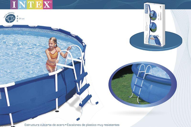 28060 Лестница для бассейна до 91см, 3 ступени, без площадки