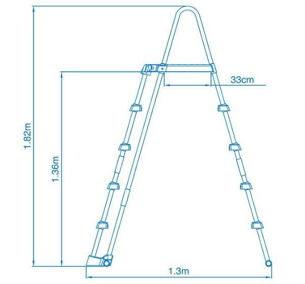 28077 Лестница для бассейна Intex 122-132 см