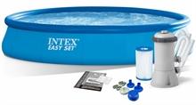 28158 Надувной бассейн  Intex, 457х84см, фильтр-насос картр 2006 л/ч (28180)