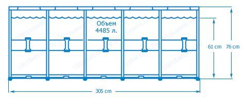 28200 Каркасный бассейн круглый  Intex, 305х76см,