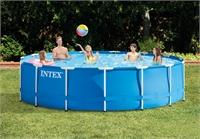28240 Каркасный бассейн Intex METAL FRAME 457x84см +фильтр-насос 2006 л.ч