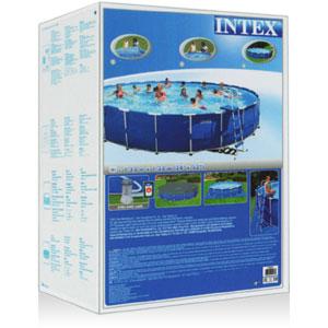28252 Каркасный бассейн круглый  Intex, 549х122см, фильтр-насос картр 5678 л/ч