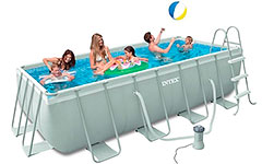 28350 Бассейн каркасный Ultra Frame Pool Intex 400х200х100 см 56244