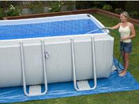 28362/26362 Каркасный бассейн прямоугольный Intex, 732х366х132см, фильтр-насос песчанный 6000 л/ч