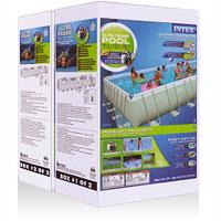 28374 Бассейн каркасный Ultra Frame Pool Intex 975х488х132см