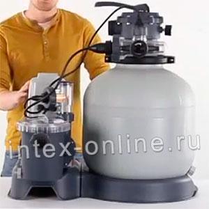 28682 Песочный фильтрующий насос с Хлоргенератором Intex 28682 10000 л/ч