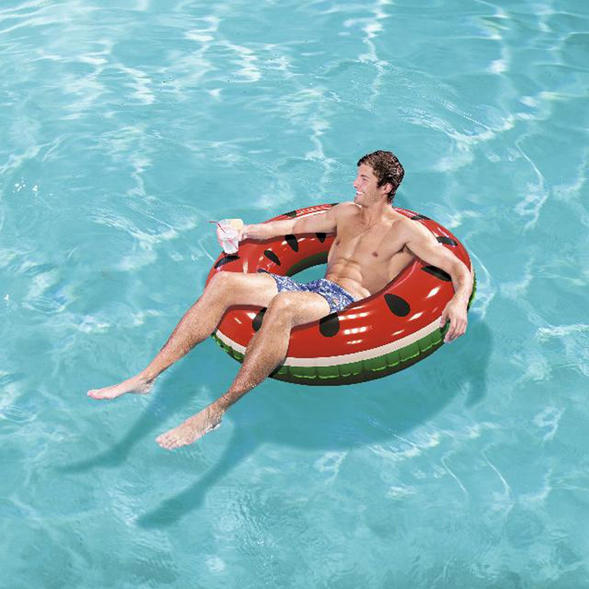 36121 Круг для плавания Фрукты 119 см