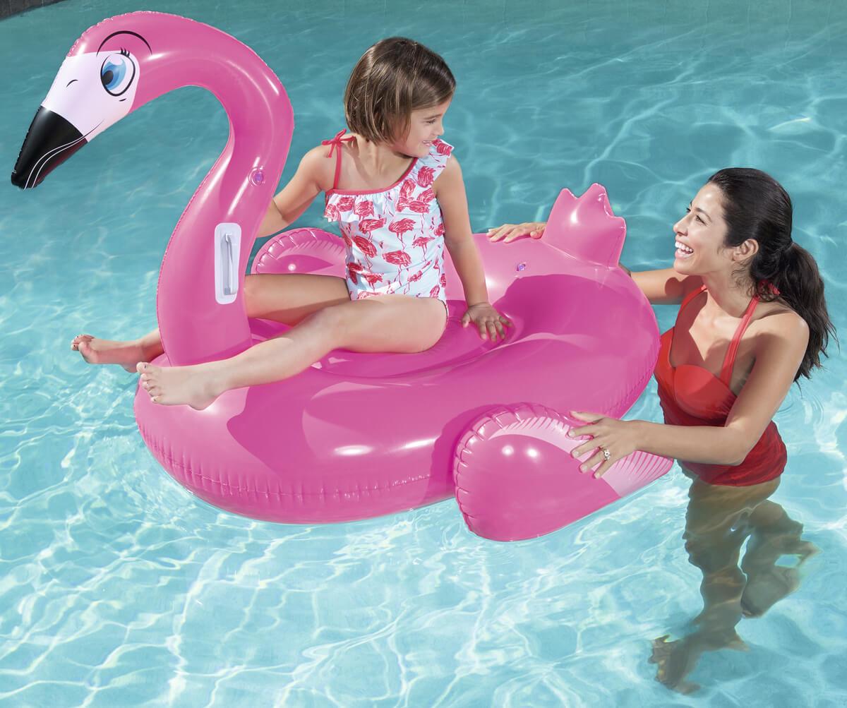 41103/41099 Игрушка для катания верхом Фламинго Bestway 135 х 119 см