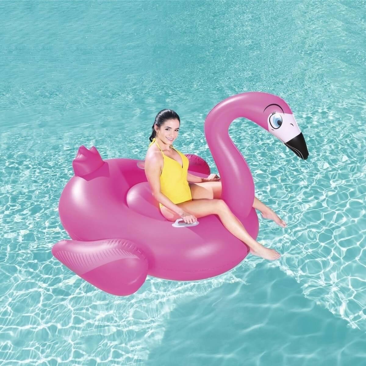 41108/41110 Надувной фламинго для катания верхом, для взрослых Bestway 175 х 173 см