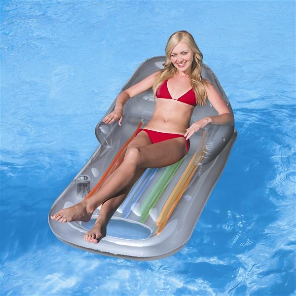 43028 Надувной шезлонг Bestway для отдыха на воде 157х89 см