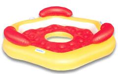 43073 Надувной шезлонг Bestway для отдыха на воде 191х178 см для троих