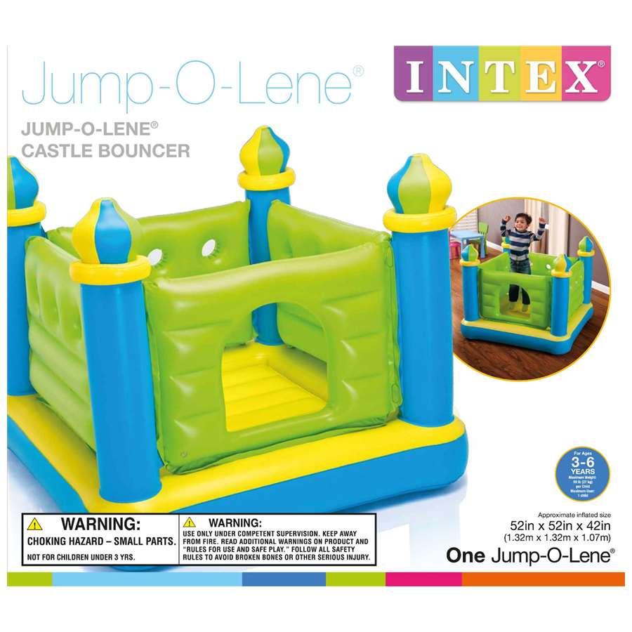 Надувной детский игровой центр-батут  Замок  Intex Castle Bouncer