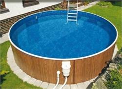 50675 Морозоустойчивый бассейн Azuro круглый 4,6х1,2 м, лестница,скиммер-фильтр 2500 л/ч