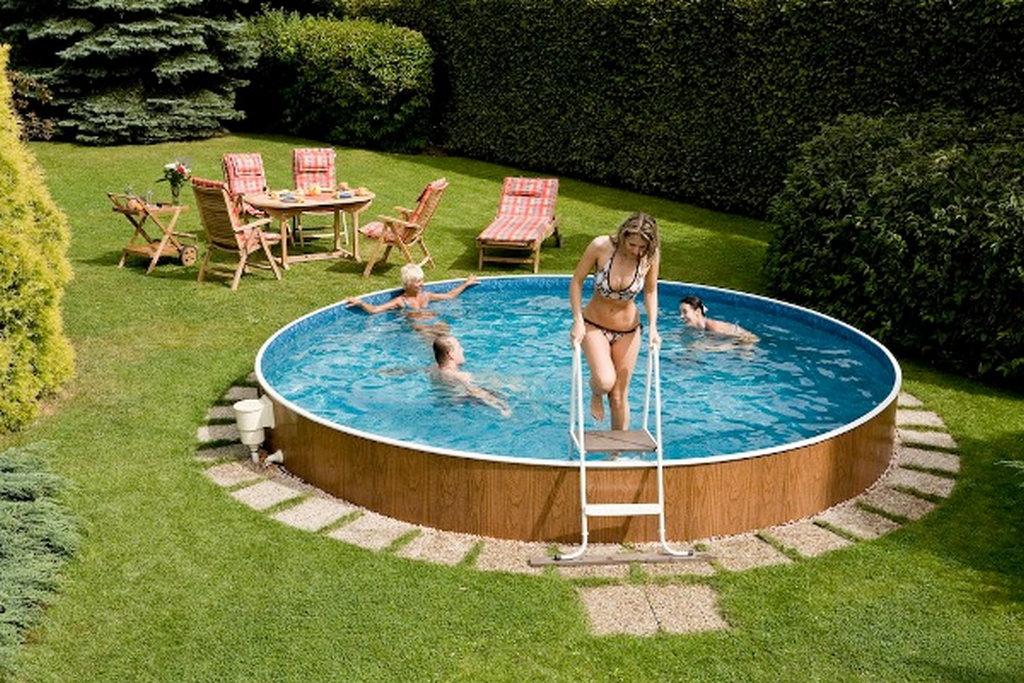 51643 Морозоустойчивый бассейн Azuro круглый 4,6х1,2 м, лестница,скиммер-фильтр 5000 л/ч