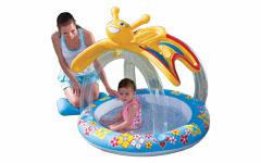 52137 Детский бассейн bestway с надувным навесом от солнца Бабочка