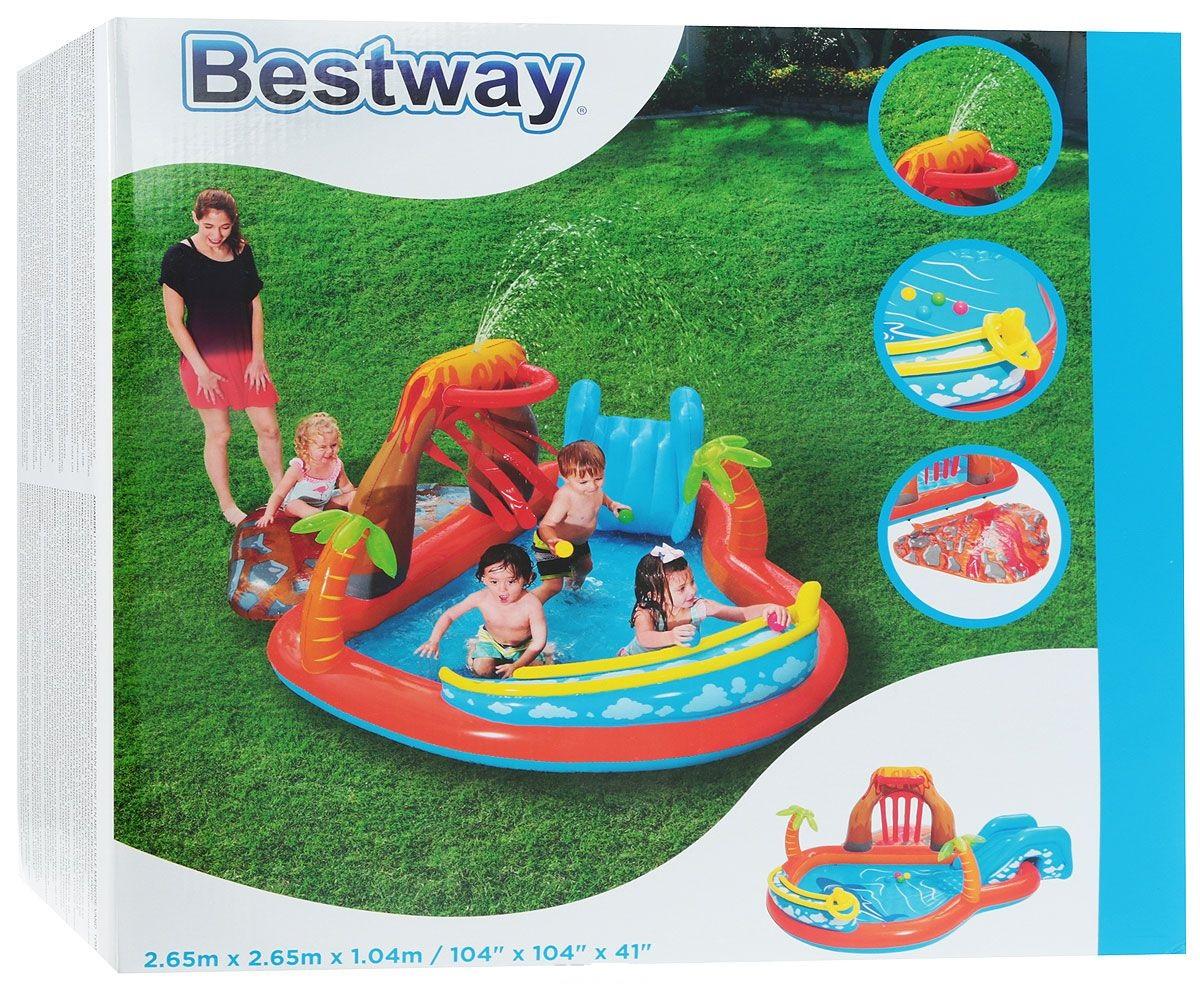 53069 Игровой бассейн с принадл. для игр Вулкан Bestway (265 х 265 х 104 см, 208 л)