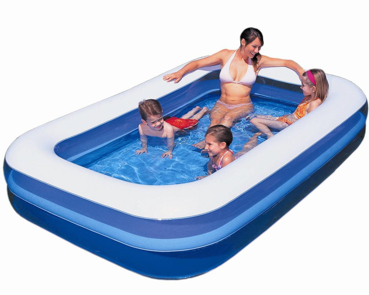 54009 Надувной прямоугольный бассейн, 305х183х56 см, 1161 л, Bestway