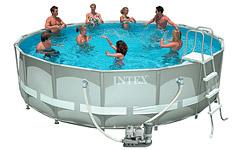 54470 Каркасный бассейн 54470 Intex 488х122 с полным комплектом +хлоргенератор