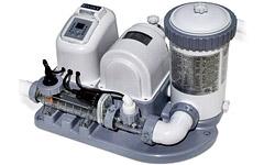 54616  Хлоргенератор + Насос-помпа для фильтрации воды (4542л/час) intex