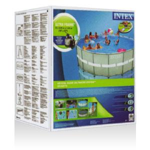 54922 Каркасный бассейн Ultra Frame Pool Intex 488х122