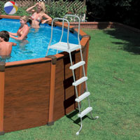 54928 Бассейн каркасный INTEX Sequoia Spirit Wood Frame Pool 478x124см