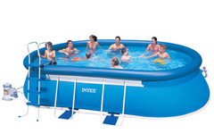 54932 Надувной бассейн Intex Oval Frame Pool 549х305х107см
