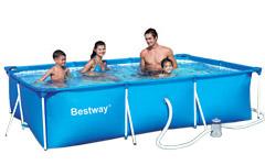 56078 Каркасный бассейн Bestway 300х201х71см прямоугольный