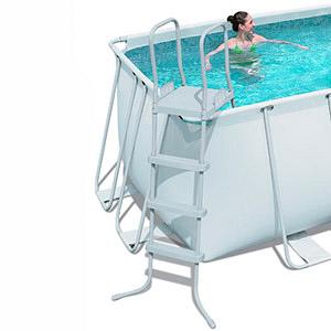 56241 Каркасный бассейн прямоугольный BestWay, 412х201х122см, фильтр-насос картр 2006 л/ч