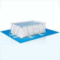 56257 Каркасный бассейн прямоугольный BestWay, 671х396х132см, фильтр-насос песчанный 5678 л/ч