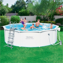 56382 Каркасный бассейн круглый со стальными стенками BestWay, 460х120см, фильтр-насос картр 3028 л/ч (56571, 56386)