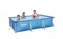 56402 Каркасный бассейн прямоугольный BestWay, 239х150х58см,