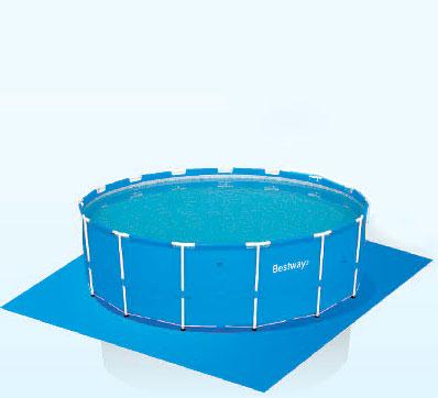 56414 Каркасный бассейн круглый  BestWay, 366х122см, фильтр-насос песчанный 2006 л/ч
