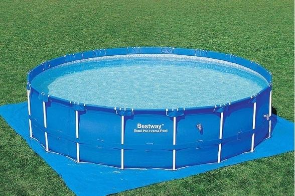 56422 Каркасный бассейн круглый  BestWay, 427х100см, фильтр-насос картр 2006 л/ч (56647)