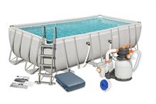 56466 Каркасный бассейн прямоугольный BestWay, 549х274х122см, фильтр-насос песчанный 3785 л/ч