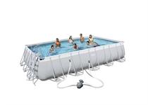 56470 Каркасный бассейн прямоугольный BestWay, 671х366х132см, фильтр-насос картр 5678 л/ч