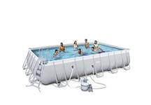 56471 Каркасный бассейн прямоугольный BestWay, 671х366х132см, фильтр-насос песчанный 5678 л/ч