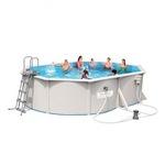56583 Каркасный бассейн прямоугольный со стальными стенками BestWay, 500х360х120см, фильтр-насос картр 3028 л/ч (56586)