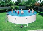 56611 Каркасный бассейн круглый со стальными стенками 549х120, картр. фильтр 5678 л/ч