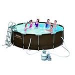 56650 Каркасный бассейн Bestway Ротанг 427x107 см, песчаный фильтр 3785 л/ч