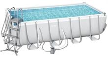 56670 Каркасный бассейн прямоугольный Power Steel 488х244х122см + фильтр-насос