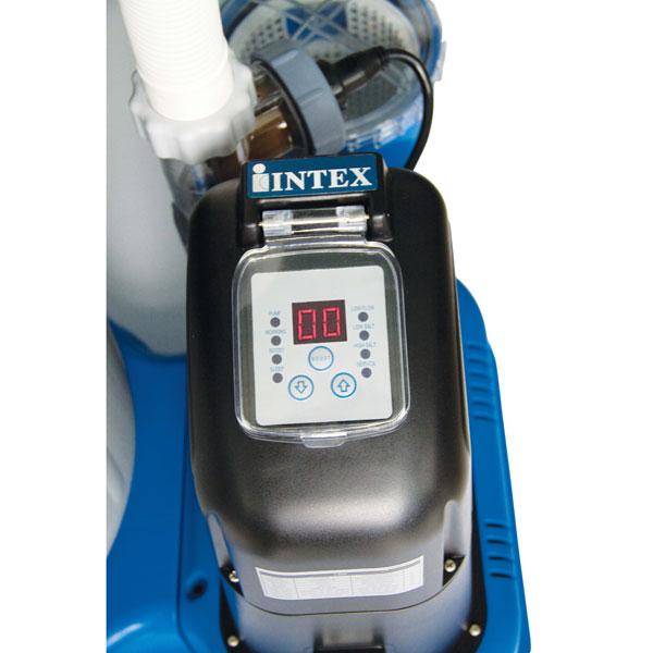 56682 Песочный фильтрующий насос с Хлоргенератором INTEX 56682 10 куб. метров в час