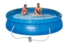 Надувной бассейн 57112 Bestway 366х76см + картриджный фильтр 1249л/ч Fast Set Pool